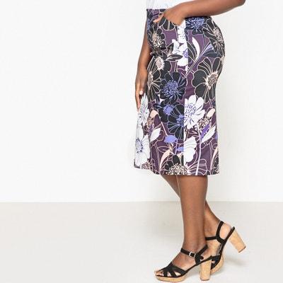 Printed Satin Pencil Skirt CASTALUNA