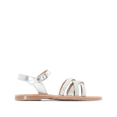 Metallic Strap Sandals, Sizes 26-39 La Redoute Collections
