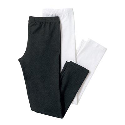 2er-Pack 3/4-Leggings, uni, 3-12 Jahre 2er-Pack 3/4-Leggings, uni, 3-12 Jahre La Redoute Collections