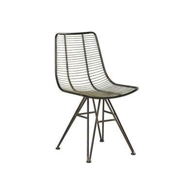 chaise moderne en mtal couleur ambre vulcan chaise moderne en mtal couleur ambre vulcan pier import - Chaise Cuisine Moderne