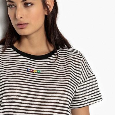Stripe Print Crew Neck T-Shirt PEPE JEANS