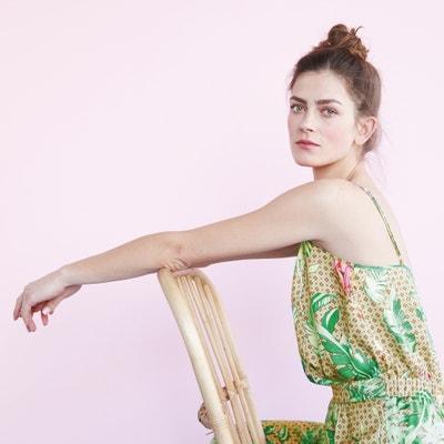 Jumpsuit met tropische print Sophie Malagola x La Redoute