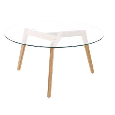 Table basse chêne et verre Scandie INWOOD