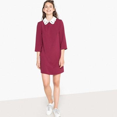 Rechte korte jurk, 3/4 mouwen Rechte korte jurk, 3/4 mouwen MADEMOISELLE R