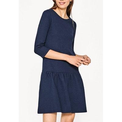 Cotton Mix Peplum Dress Cotton Mix Peplum Dress ESPRIT