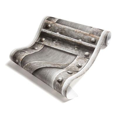 Papier Peint Poutre métallique à treillis acier brossé Papier Peint Poutre métallique à treillis acier brossé KOZIEL