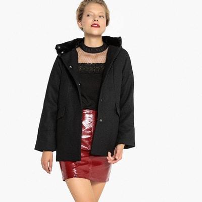 Manteau à capuche en mélange laine Manteau à capuche en mélange laine MADEMOISELLE R