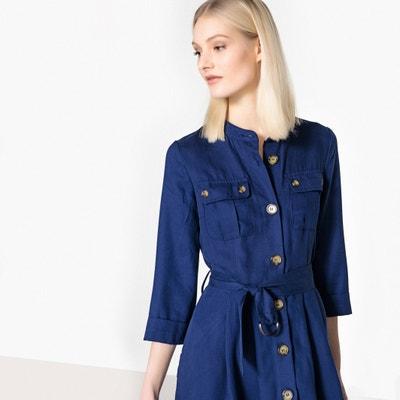 Vestido-camisa, botões à frente La Redoute Collections