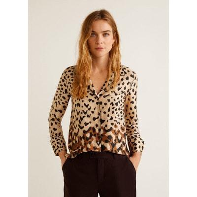 Chemise en imprimé léopard Chemise en imprimé léopard MANGO