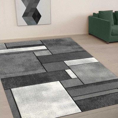tapis de salon moderne design belo 11 polypropylne un amour de tapis - Tapis Gris