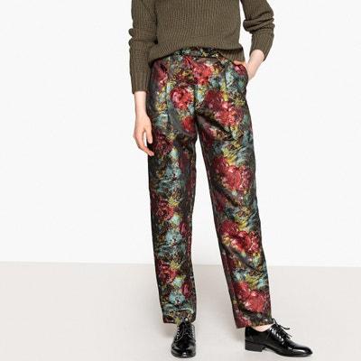 Pantaloni a sigaretta, jacquard a fiori Pantaloni a sigaretta, jacquard a fiori La Redoute Collections