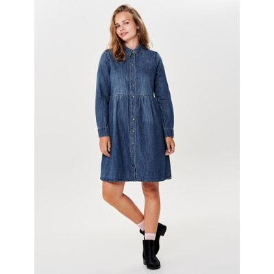 Robe en jean Manches longues Robe en jean Manches longues ONLY daa1dd9e1037