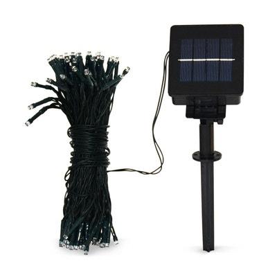 Guirlande lumineuse solaire 17m de long, 100 LED blanc chaud, batterie, 8 modes ALICE S GARDEN