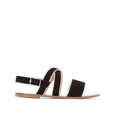 Sandales cuir compensées détail perles et franges - MADEMOISELLE R - RougeMademoiselle R Q2YG3lh7jk