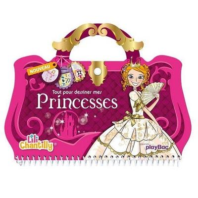 Carnet créatif Lili Chantilly : Tout pour dessiner mes princesses PLAYBAC