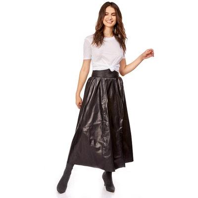 Jupe longue noire femme en solde   La Redoute 93b905d62844