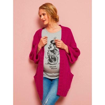 671f0d144087a Gilet en tricot épais de grossesse et allaitement VERTBAUDET