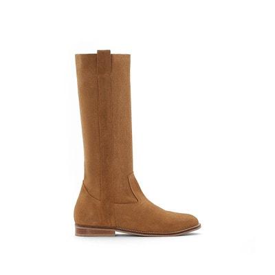 Femme Marron Chaussures SoldeLa En Redoute Cuir cluFK3T1J