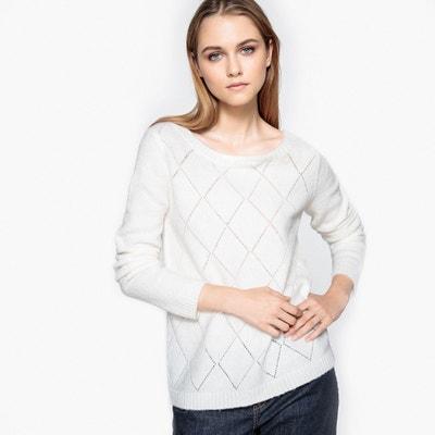 Sweter ażurowy, tył zapinany na guziki La Redoute Collections