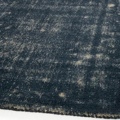 Tapis bicolore bleu/gris en laine, Eberling AM.PM