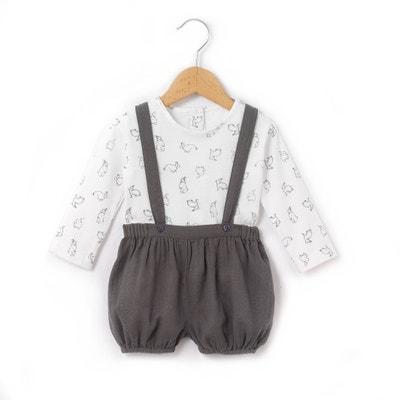 Conjunto para bebé con cuello redondo y estampado, de manga larga Conjunto para bebé con cuello redondo y estampado, de manga larga La Redoute Collections