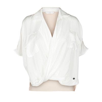 Blusa con escote cruzado de manga corta NUMPH
