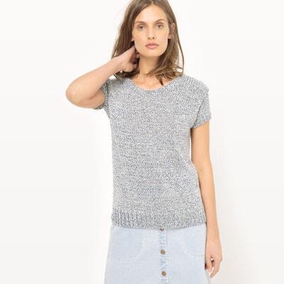 Пуловер из трикотажа мулине с вырезом-лодочкой La Redoute Collections