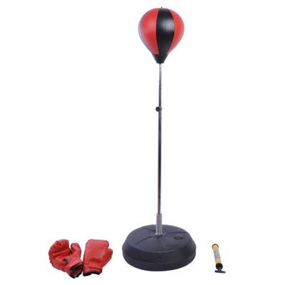 Punching ball sac de frappe rouge noir HOMCOM