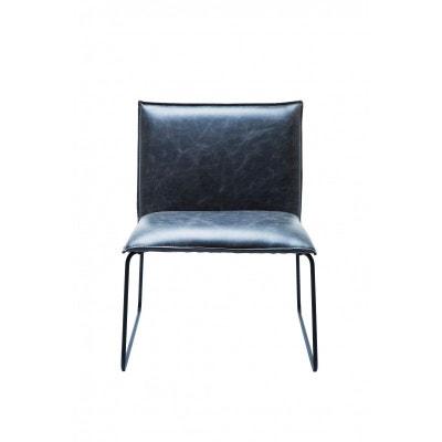 chaise niels vintage noire kare design chaise niels vintage noire kare design kare design - Chaise Cuir Vintage