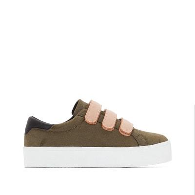 Zapatillas con plataforma y presillas autoadherentes La Redoute Collections