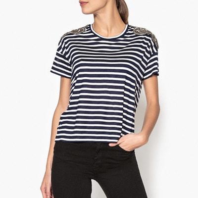 T-shirt lisa com gola redonda, mangas curtas T-shirt lisa com gola redonda, mangas curtas THE KOOPLES