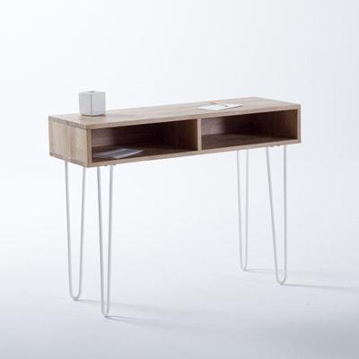 Adza Solid Oak Console Table La Redoute Interieurs