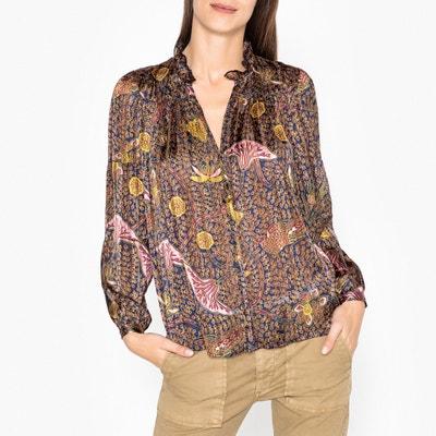 Danila Long-Sleeved Printed Shirt BA&SH
