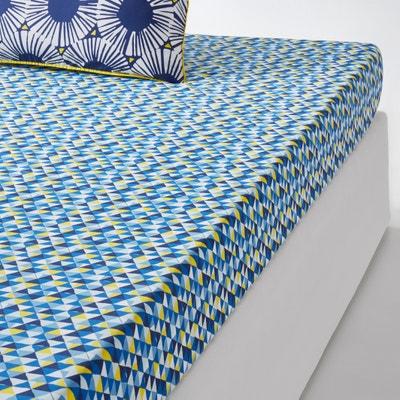 Lençol-capa, estampado, Blue Riviera La Redoute Interieurs