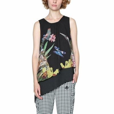 Ärmellose Bluse, runder Ausschnitt, florales Muster DESIGUAL
