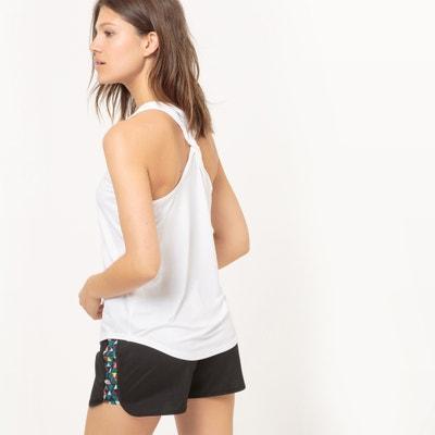 Camiseta sin mangas de deporte, con espalda estilo nadador trenzada Camiseta sin mangas de deporte, con espalda estilo nadador trenzada La Redoute Collections