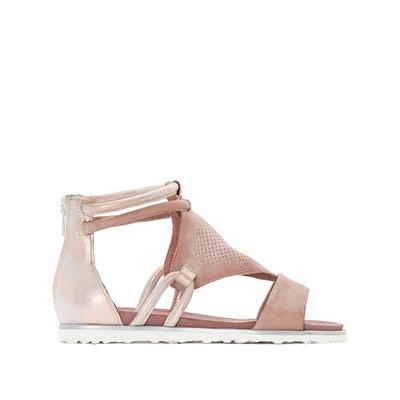 Tittle Flat Leather Sandals MJUS