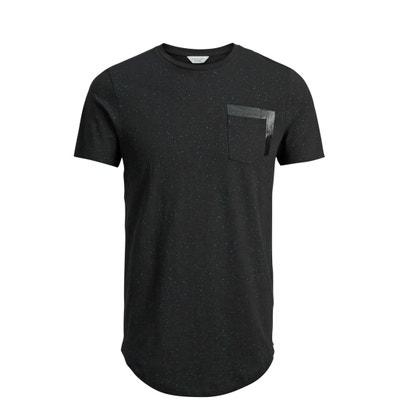 "T-shirt de gola redonda, ""falso-liso"" T-shirt de gola redonda, ""falso-liso"" JACK AND JONES CORE PERFORMANCE"