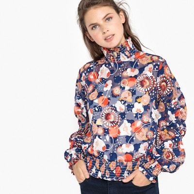 Blusa con cuello alto estampado de flores, manga larga Blusa con cuello alto estampado de flores, manga larga La Redoute Collections