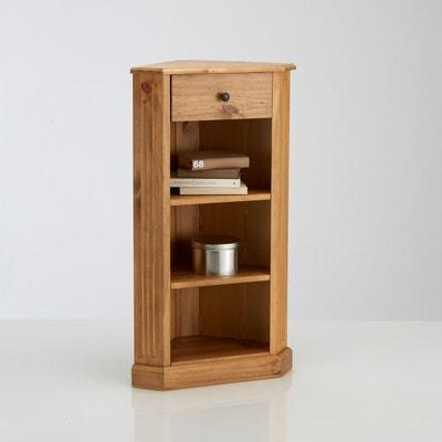 Étagère encoignure, 1 tiroir, pin massif, finition cirée, Authentic Style La Redoute Interieurs