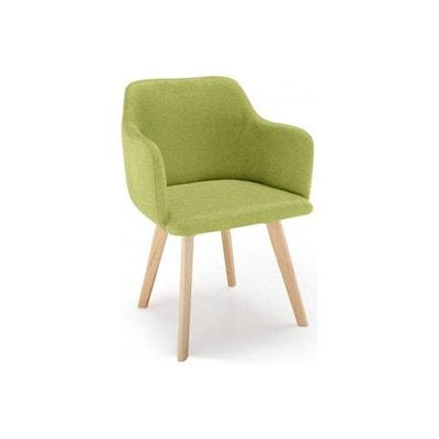 chaise style scandinave tissu vert pistache saga declikdeco - Chaise Norvegienne