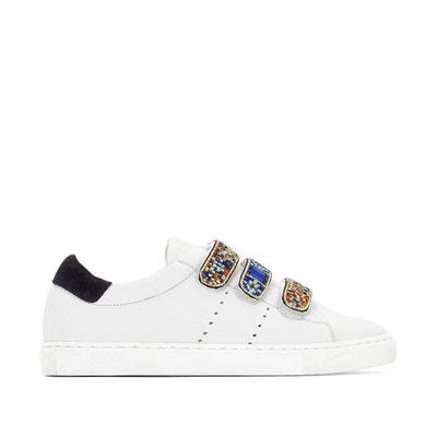 Zapatillas de piel con detalle estilo perlas La Redoute Collections