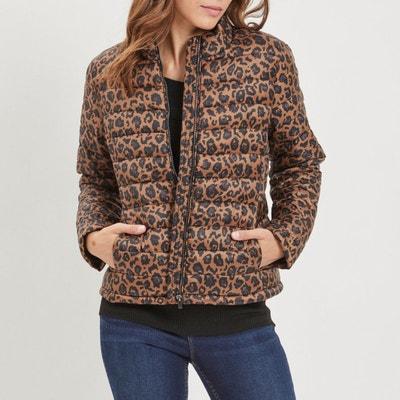 Blusão curto, fino, estampado leopardo Blusão curto, fino, estampado leopardo VILA