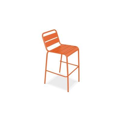 tabouret haut en mtal tabouret haut en mtal oviala - Tabouret Bar Orange