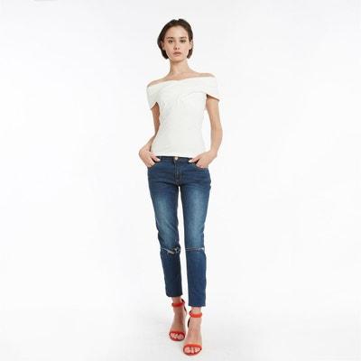 rayure Redoute La Tee et noir en blanche solde femme shirt waOxqzaSE