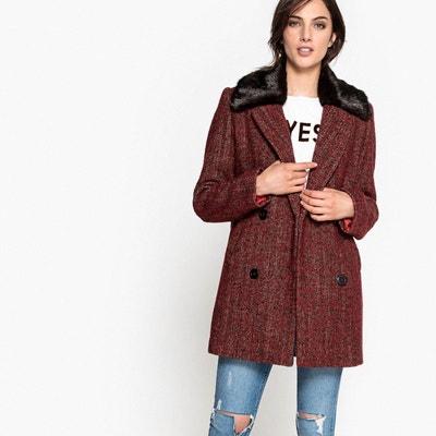 Manteau fourrure col femme