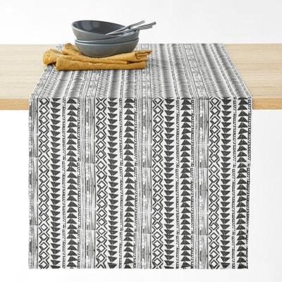 Bieżnik na stół z powlekanej bawełny TIEBELE Bieżnik na stół z powlekanej bawełny TIEBELE La Redoute Interieurs
