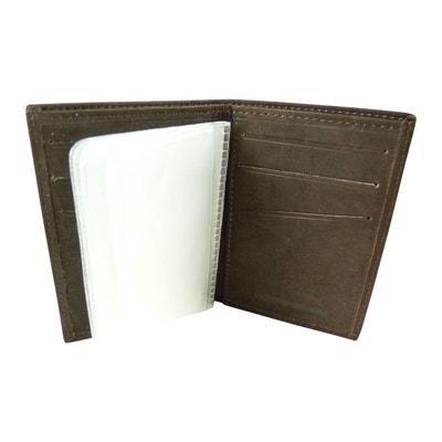 Porte Carte de Crédit avec volet central plastifié en Daim Porte Carte de Crédit avec volet central plastifié en Daim CHAUSSMARO