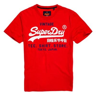Camiseta con cuello redondo y motivo delante estilo agrietado SUPERDRY
