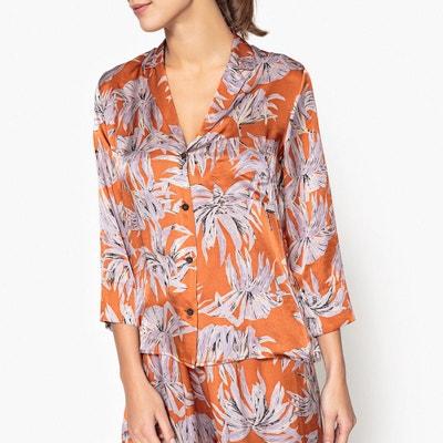 Chemise style pyjama en soie imprimée POMANDERE